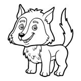 Coloring book, Wolf. Coloring book for children, Wolf vector illustration