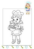 Coloring book of the works 13 - cook Royalty Free Stock Images
