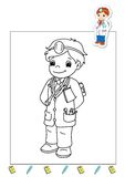 Coloring book of the works 23 - doctor stock photography