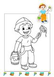 Coloring book of the works 3 - bleaches royalty free stock photography