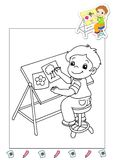 Coloring book of the works 36 - illustrator stock images