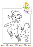 Coloring book of the works 4 - gymnast Stock Images