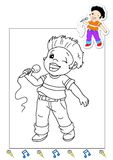 Coloring book of the works 5 - singer royalty free stock images