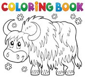 Coloring book yak theme 1 Royalty Free Stock Image