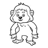 Coloring book, Yeti Stock Images