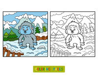 Coloring book, Yeti. Coloring book for children, Yeti Stock Images