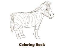Coloring book zebra african savannah animal Royalty Free Stock Photos