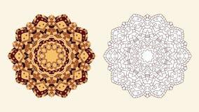 Coloring book zentangle vector flower Royalty Free Stock Photos