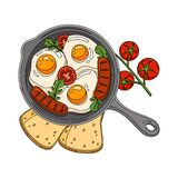 Coloring Breakfast Illustration