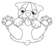 Coloring Bulldog  sit Royalty Free Stock Photography
