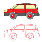 Coloring Car Vector for Kid Royalty Free Stock Photos
