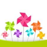 Coloring cartoon pinwheel, vector EPS10. Royalty Free Stock Photos