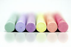 Coloring chalks Stock Photos