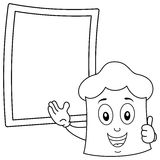 Coloring Chef Hat & Recipe Blackboard Stock Photo