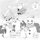 The coloring christmas page Stock Images