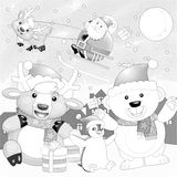 The coloring christmas page Royalty Free Stock Photos