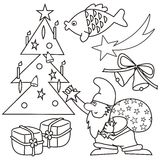 Coloring - chritstmas symbol Royalty Free Stock Image