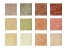 Coloring the color and tone of the decorative coating - sand Stock Photography