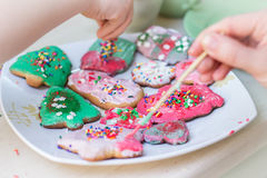 Coloring cookies Stock Photo
