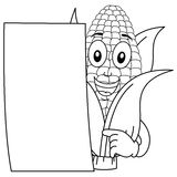 Coloring Corn Cob Character with Paper Stock Photos