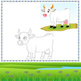 Coloring cow royalty free stock images