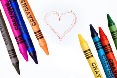 Coloring crayons. Generic coloring crayons Royalty Free Stock Photos