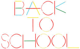 Coloring Crayons Back To School Word Royalty Free Stock Photos