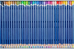Coloring Crayons Row Royalty Free Stock Photography