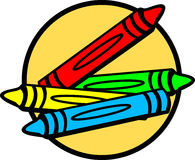 Coloring crayons vector illustration Stock Photography