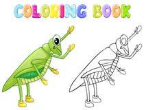 Coloring cricket bug. On white background royalty free illustration