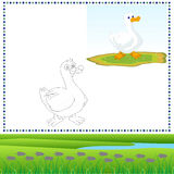 Coloring Duck vector illustration