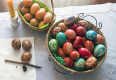 Coloring Easter egg Stock Images