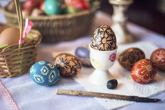 Coloring Easter egg Stock Image