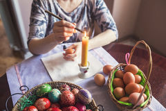 Coloring Easter egg Stock Photos