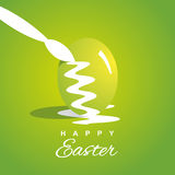 Coloring Easter eggs green background. Vector Royalty Free Stock Image