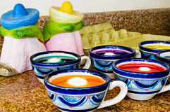Coloring Easter Eggs in Mexico royalty free stock photography