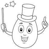 Coloring Egg the Magician Character Stock Image