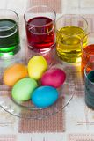 Coloring eggs for Easter holiday Stock Photos