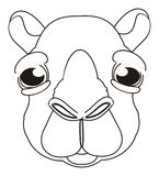 Coloring face of camel stock illustration  Illustration of
