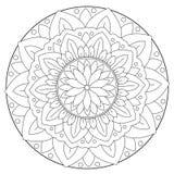 Coloring Floral Leaf Mandala Royalty Free Stock Images