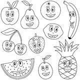 Coloring Fruit for Kids Royalty Free Stock Photo