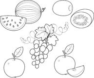 Coloring Fruit Royalty Free Stock Images