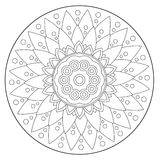 Coloring Geometric Floral Ornament Royalty Free Stock Images