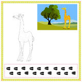 Coloring Giraffe stock photos