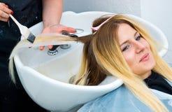 Coloring hair preparation Royalty Free Stock Photos
