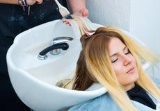 Coloring hair preparation Stock Image