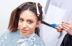 Coloring hair Royalty Free Stock Images