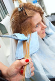 Coloring hair Royalty Free Stock Photos