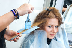 Coloring hair Stock Photography