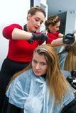 Coloring hair Royalty Free Stock Photo